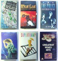 LOTTO 6 RARI FILM MUSICALI CONCERTI ROCK Videocassette VHS Movie Musical Concert