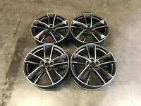 "19"" RS7 Performance Style Alloy Wheels Satin Gun Metal Machined Audi A4 A6 A8"