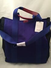 Paul Smith Women Bag Tote Slim Blue Made In Italy RRP£220