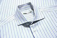 Maurizio Baldassari Mens Made In Italy Cotton Long Sleeve Shirt Striped Size 16