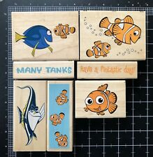 Lot Of 7 - Finding Nemo Rubber Stamps - Used