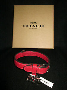 """Coach Dog Collar - Red Leather - Size """"S"""" / NWT"""