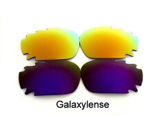 Galaxy Replacement Lenses For Oakley Racing Jacket Purple&Gold Polarized 2Pair
