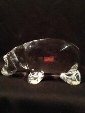 Baccarat Crystal Hippopotamus Hippo Figurine France