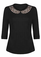 Marks and Spencer Women's Crew Neck 3/4 Sleeve Jumpers & Cardigans
