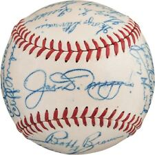Beautiful 1948 NY Yankees Team Signed American League Baseball Joe Dimaggio PSA