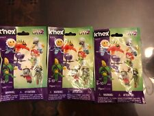 NEW Lot of 3 PLANTS vs. ZOMBIES GW2 K'NEX SERIES 6 BLIND BAGS~ FREE SHIP!