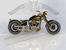 """Harley Davidson 80"""" Evo-Knuckle Springer Bobber Custom Frame Sprung Hub 5 Speed"""