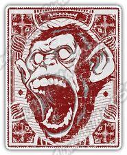 "Ape Monkey Gorilla Scream Face Gift Idea Car Bumper Vinyl Sticker Decal 4""X5"""