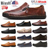 Men's Driving Moccasins Casual Slip On Flats Shoes Fashion Leather Shoes Loafers