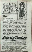 Liberty Land Market Harborough, Liberty Bodice Play is Healthy Vintage Ad 1922
