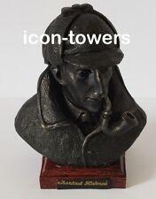 "1 x SHERLOCK HOLMES Small Figure, Bronze Effect Handmade Head Bust | 9cm/3.5"""