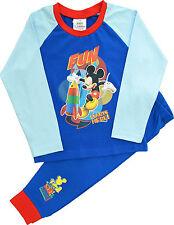Kids Boys Disney Mickey Mouse PJs Pyjamas Sleepwear Ages 1 to 5 Years (mm06) 4-5 Years