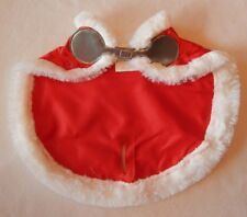 NEW Build A Bear Clothes - Christmas Red Reindeer Cape Silver Snow Faux Fur NWT