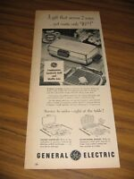 1953 Print Ad GE General Electric Waffle Iron & Sandwich Maker
