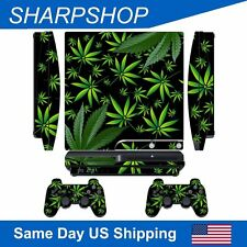 Sticker Skin Set for PS3 Slim Console & Controller Gamepad Cover Decal Weeds