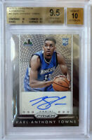 ROOKIE! 2015-16 Karl Anthony Towns Panini Prizm (Auto/RC) BGS 9.5/10!