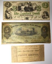 Note Lot: 1862 50¢, 1873 $5.00, & 1861 $2.00 Lot 448