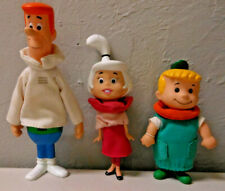 THE JETSONS HANNA BARBERA FIGURES LOT of 3 Vintage Vinyl Toys Fabric