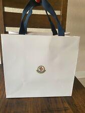 Moncler White Gift Bag Shopping Bag Empty Small