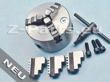3 Backenfutter 100 mm, Drehbankfutter, Drei-Loch-Aufnahme zylindrisch NEU
