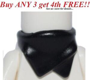 ☀️NEW Lego Minifig BLACK Bandana Face Scarf Wrap Cowboy Bandit Scarf Ninjago