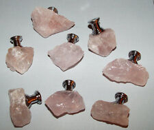 Natural Rose Quartz Crystal Gemstone Drawer Pull Knobs Custom Pulls