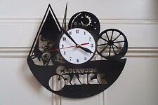 Clockwork design vinyl record wall clock, home decor art office shop pub move