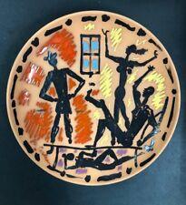 Jean Cocteau, Scene d'Interieur, original ceramic plate, 1961, hand signed