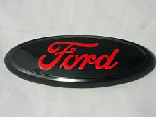 "FORD™ New 7"" x 2.75"" Black/Red Oval  Body Grille Badge Logo F150 2nds Free Ship"
