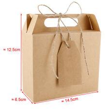 25pc Caja Bolsa de Papel Kraft Cartón para Dulces Regalo Detalles Envase Boda