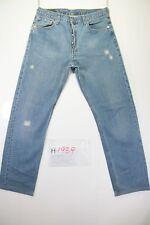 Levi's 501 Customized (Cod. H1989) Tg48 W34 L36 ACCORCIATO jeans usato vintage