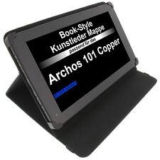 Sac pour Archos 101 Copper Style Livre Étui de Protection Tablet Case Porte Noir
