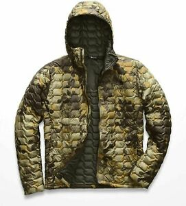 The North Face Mens Thermoball Hoodie New Taupe Camo Size Medium NF0A3KTU6ET