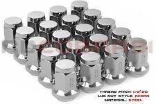 20 Chrome Acorn Lug Nuts | M12x1.5 | Bulk Quantity Available