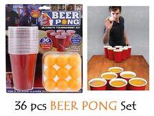 36 PC beer pong drinking game set tazze Palline Festa KIT PUB Ping uomini uomo regalo divertente