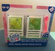 BABY ALIVE FOOD PACK - 8 Food packets, fruits & veggies & Spoon (non-magnetic)
