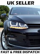 VOLKSWAGEN GOLF MK7 palpebra Sopracciglio HEADLIGHT NERO COPERCHIO Trim R GTI GTD VW (si adatta