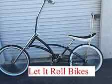 "NEW 26"" BLACK CHOPPER LOWRIDER CRUISER BIKE W/144 SPOKES COASTER BRAKE"