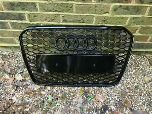 Audi A5 S5 RS5 Style Gloss Black Honeycomb Grille 12 - 15 B8.5 Facelift Model