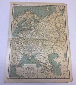 1923 map ~ RUSSIA Finland, Estonia, Latvia, Lithuania, Georgia, Azerbaijan