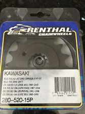 Renthal Front Sprocket 15 tooth 520 Chain Kawasaki Kle 500 Zx 550 400 Ex Zr
