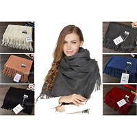 HOT SALE Acne Pure Color Virgin Wool Unisex Pashmina Cashmere Scarfs Shawls
