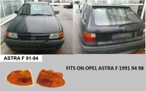 OPEL ASTRA F MODEL 1991 94 98 FRONT CORNER TURN LIGHTS  PAIR L R AFTERMARKET