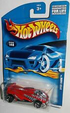 Hot Wheels 2001 Collector #148 Speed Shark Red Black Gray Chrome 3SPs 50014