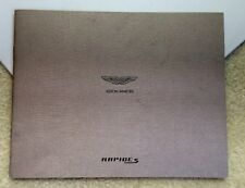 2013 Aston Martin Rapide S Brochure Detailed Sales Catalog Soft bound
