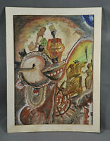 Jam Fest Original Watercolor on Canvas Painting by JAM African-American Artist