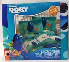 New  Disney Twin Sheet Set  Ocean Fish Pillowcase