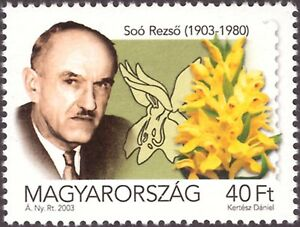 Hungary Orchid  2003.  wrong person Rezso Soo ERROR  mint