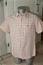short sleeves shirt checked MARLBORO CLASSICS slim Size M MINT